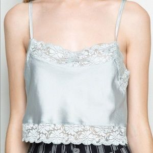 Brandy Melville | blue lace crop top!